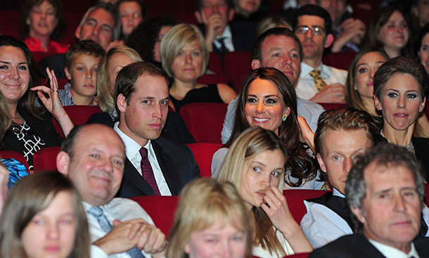 Prince William, Duke of Cambridge and Catherine, Duchess of Cambridge during the 'African Cats' UK film Premiere in Aid of Tusk at the BFI Southbank on April 25, 2012 in London.