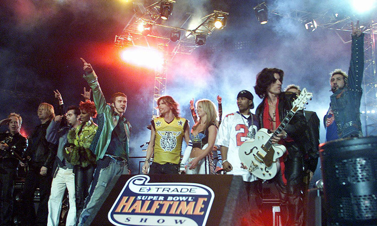 With performances by Aerosmith, Britney Spears and NSYNC, 2001's Super Bowl may have been the most star-studded to date.