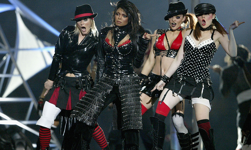 The calm before the storm: In 2004, all seemed to be going smoothly for Janet Jackson until a wardrobe malfunction stopped everybody in their tracks. Janet and surprise guest Justin Timberlake made international headlines after Janet accidentally exposed her breast.