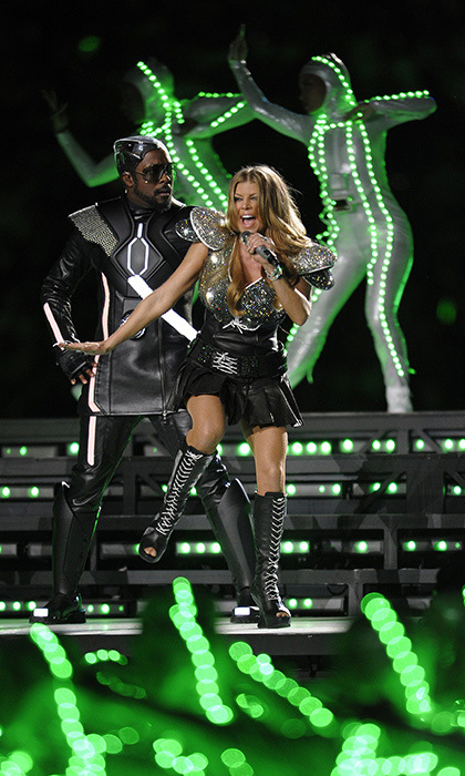 In 2011, The Black Eyed Peas performed a high-energy concert at Cowboys Stadium complete with futuristic ensembles and light-up dancers.