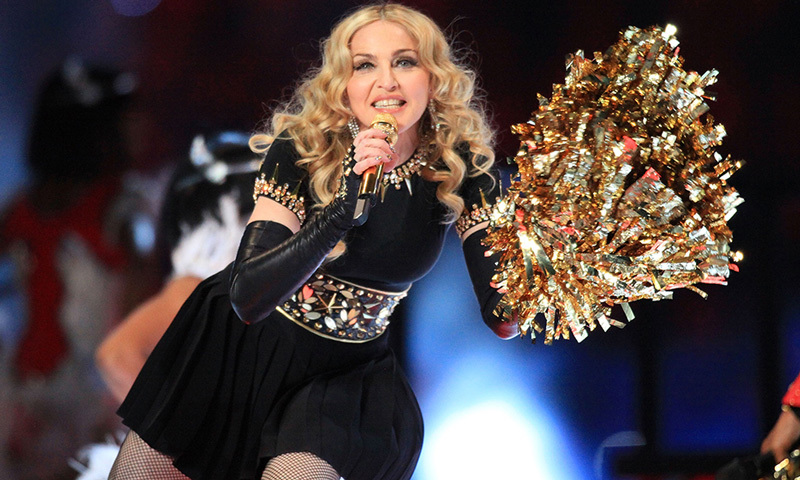 Madonna was joined by Nicki Minaj, L.M.F.A.O and M.I.A. for her cheerleader-inspired show in 2012. It holds the record as the most-watched Super Bowl halftime in history, garnering 114 million viewers.
