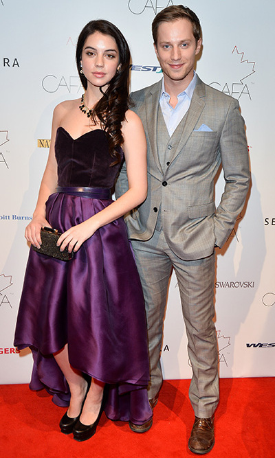 'Reign' star Adelaide Kane and actor Jonathan Keltz. Photo: © George Pimentel