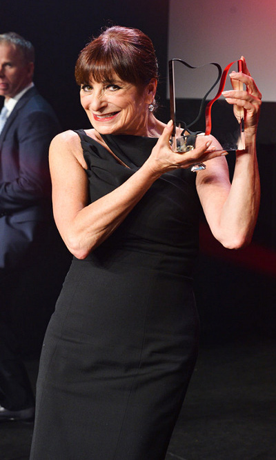 Fashion Television host Jeanne Beker accepts a special award recognizing her career in fashion. Photo: © George Pimentel