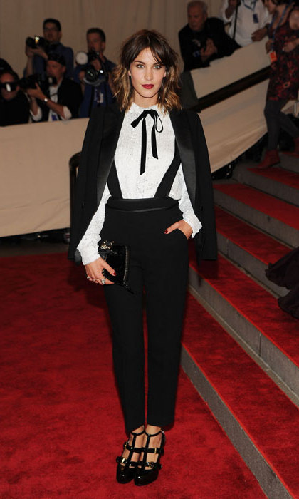 Alexa Chung suited up at the 2010 Met ball, standing out in a sea of gowns dressed head to toe in Phillip Lim.
