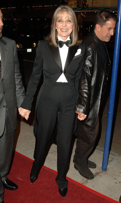 Diane Keaton has rocked a tuxedo for various red carpet events, but this chic ensemble she wore at a film première in 2005 is one of our favourites.