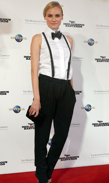 Diane Kruger looked super chic as she rocked a Chanel tuxedo ensemble at the Australian premiere of Inglorious Basterds.