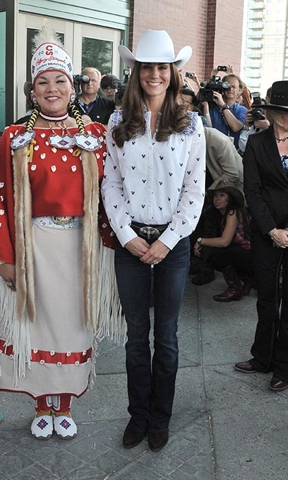 Kate the cowgirl? The Duchess dressed for the rodeo while partaking in Calgary Stampede activities at the BMO Centre on July 7. (Photo: © George Pimentel/WireImage)
