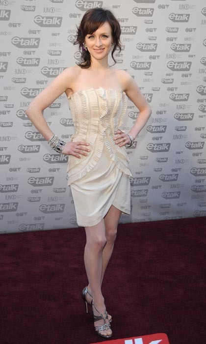 Singer Sarah Slean was all about the details in her 2009 Juno Awards frock, which featured stunning ivory ribbon pleats and an elegant tulip skirt. (Photo: George Pimentel/WireImage)