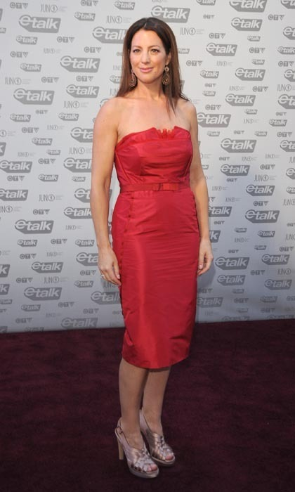 Sarah McLachlan captured hearts in a minimalist, belted Canadian-red number at the 2009 Juno Awards. (Photo: George Pimentel/WireImage)