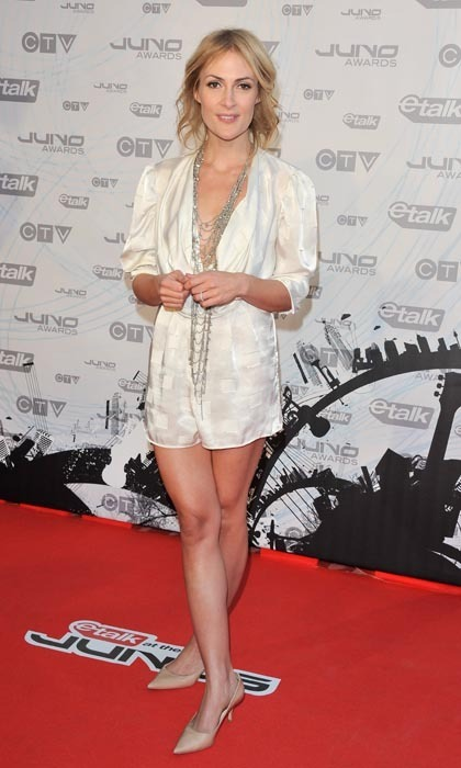 Metric's Emily Haines was the poster girl for playing it cool and comfortable at the 2011 Juno Awards, where she donned a silky short jumpsuit in soft cream, ensuring revellers that casual can in fact be very chic.  (Photo: George Pimentel/WireImage)