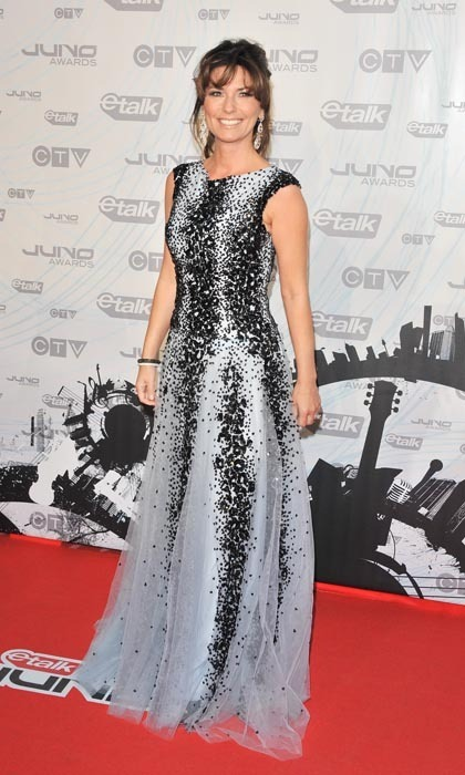 Shania Twain represented Canadian music royalty well at the 2011 Junos, dressed in a lengthy black-and-white Zuhair Murad gown. Here's the thing: When you arrive to be inducted into the Hall of Fame, you dress to impress!  (Photo: George Pimentel/WireImage/Getty Images)