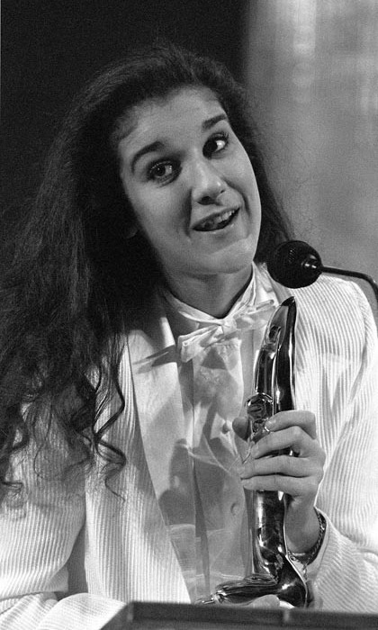 On Oct. 30, 1983, a teenaged Celine accepted one of her four Félix awards in Montreal. The singer was just 15 years old at the time. (Photo: © Getty)