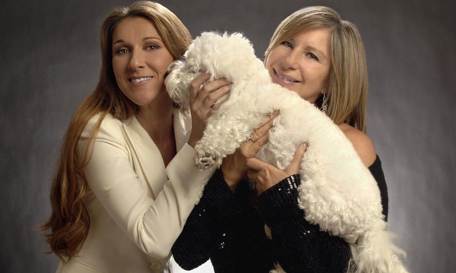 "Philanthropic stars Celine Dion and Barbra Streisand teamed up for a good cause in 2005, supporting the 10th Annual ""Grand Slam for Children"" Fundraiser. (Photo: © Getty)"