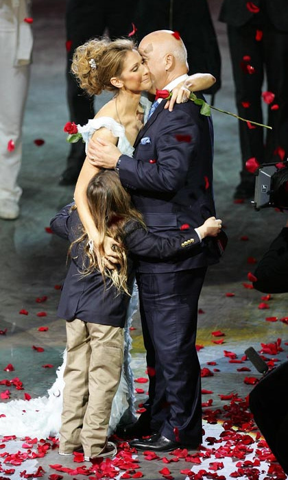 Dec. 15, 2007 proved to be an emotional day for Celine. The singer, who had just finished her last performance of 'A New Day…' at Caesars Palace, was embraced by her husband and son as fans threw roses at the stage. Almost three million people had watched her perform 717 shows since the show first opened in 2003. (Photo: © Getty)