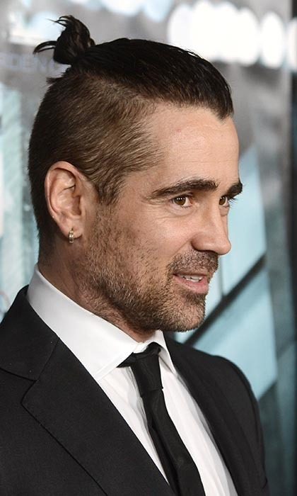 Ah the bad-boy 'do - Colin Farrell could presumably be straight off a night in an Irish pub. And yet, somehow, the 'Dead Man Down' star - here at the film's Hollywood premiere - looks cleaner and more put-together with his hair out of his eyes, even with such edgy styling.