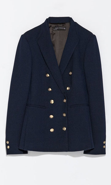 "The navy, double-breasted jacket featuring gold buttons – with a price tag of $146 – was available in all sizes when fashion fans first recognised it.  But a few hours later, the item had completely sold out on the high street retailer's online store – just another example of ""the Kate effect""."