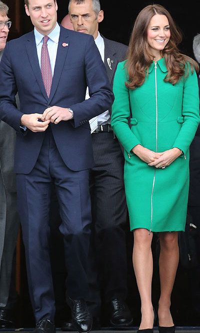 DAY 6: The stylish brunette wore a jade green Erdem coat with black heeled shoes. Photo: © Getty.