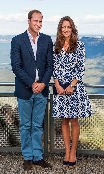 DAY 11: Kate Middleton was the epitome of casual chic in a Diane von Furstenberg wrap dress on day two of her official tour of Australia and day 11 of the royals' tour Down Under.