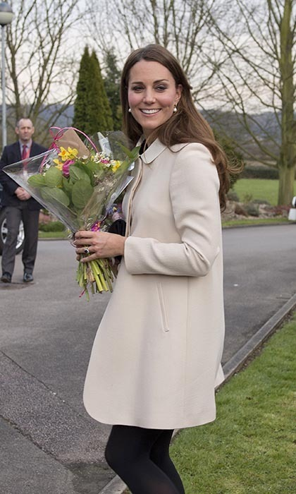 "While visiting a Child Bereavement charity in the UK in 2012, Kate was presented with posies from the crowd, prompting her husband William to joke: ""I never get flowers any more, I just get cold hands."""