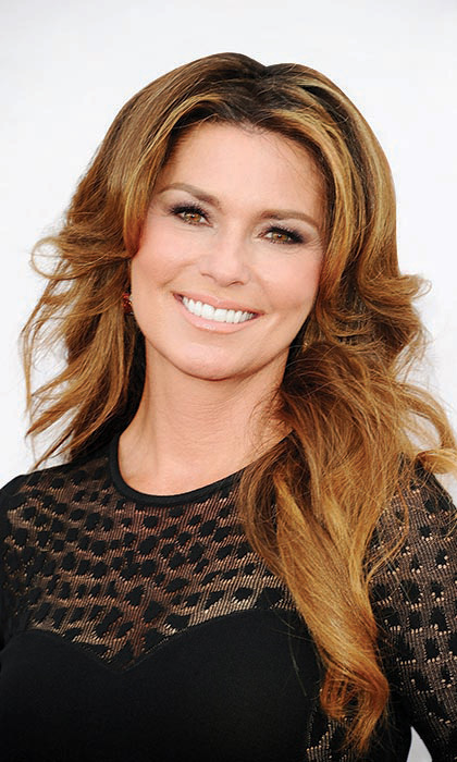 "SHANIA TWAIN, 48: The music superstar from Timmins, Ont., who will perform two shows at the Calgary Stampede this summer, says she uses past Hello! Canada Most Beautiful covers as ""ammunition"" when she's feeling insecure. Photo: © CP"