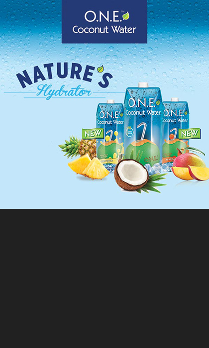SPONSORED: Delicious and Refreshing, O.N.E. Coconut Water is a great source of all-natural hydration. Loaded with electrolytes and low in calories, O.N.E. Coconut Water helps you stay hydrated and gives you the energy your body needs to stay naturally at your best.