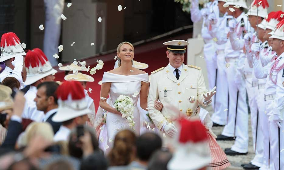 "The royal wedding was a two-day affair: It featured a civil wedding, which was held in the Throne Room of the Prince's Palace of Monaco on July 1, followed by a Roman-Catholic Ceremony at the Prince's Palace on July 2. The weeklong event was described as Monaco's ""biggest party in 55 years,"" since Prince Rainier III and Grace Kelly's wedding in 1956. 