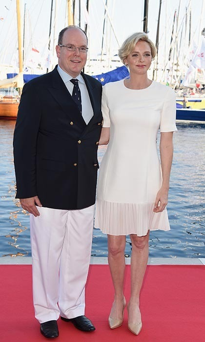 The royals were glowing with happiness as they visited the Monaco Yacht Club in June, with Charlene having just announced her pregnancy.  