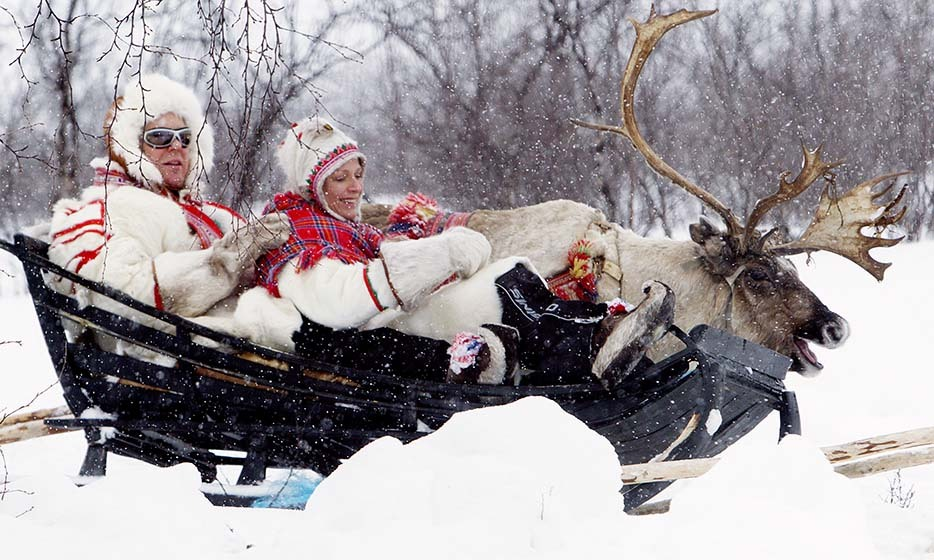 They're adventurous, too: Prince Albert and Princess Charlene enjoyed a sleigh ride dressed in local Lapponian clothing - made of reindeer skin! - in 2012.