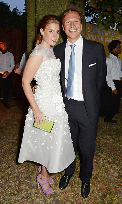 Beatrice teased fans with a bridal-inspired ensemble at The Serpentine Gallery Summer Party in 2014, donning a beautiful white organza dress by Nicholas Oakwell. However the couple called time on their relationship in July 2016 after 10 years together. (Photo by David M. Benett/Getty Images for The Serpentine)