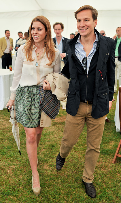 Beatrice and Dave were photographed arm-in-arm at the Cartier Queen's Cup final. (Photo by Nick Harvey/WireImage)