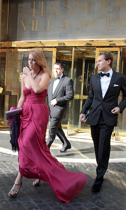For Petra Ecclestone and James Stunt's wedding, they dazzled in their most glamorous ensembles; Dave looked dapper in a crisp tuxedo and Beatrice was more beautiful than ever in a strapless fuchsia gown. (Photo by Elisabetta A. Villa/Getty Images)