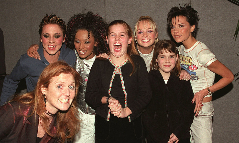 Beatrice could hardly contain her excitement when she and her sister Eugenie met her teen idols, the Spice Girls, in 1999. 
