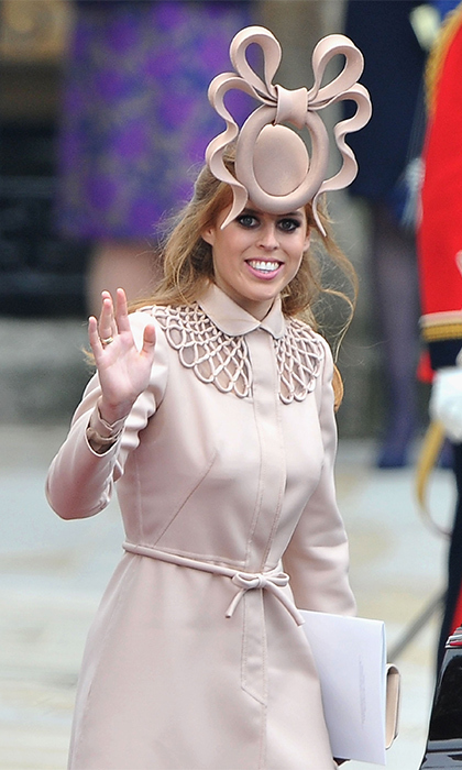 Beatrice gained worldwide attention at cousin Prince William's wedding to Kate Middleton for her choice of headwear. The hat, designed by Philip Treacy, was an internet sensation becoming a top trend on Twitter within minutes of the Princess arriving at Westminster Abbey. A month later, Beatrice offered the hat on eBay with proceeds going to charity. The winning bid was $131,000 with the money being divided between UNICEF and Children in Crisis.