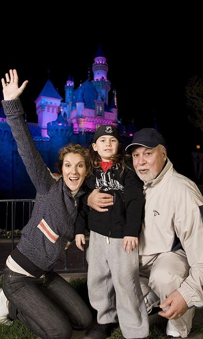 The Angelil family took a well-deserved break from Celine's Las Vegas show to spend some time together during a vacation at Disneyland in 2007. (Photo © Getty Images)