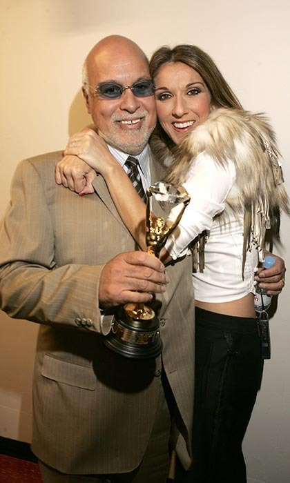 The couple celebrated Celine winning the Diamond Award at the World Music Awards for being the World's Best Selling Female Artist of All Time in 2004. (Photo © Getty Images)