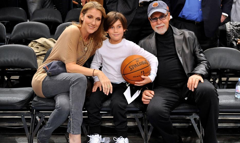 The Angelil family attended the Portland Trailblazers vs. New York Knicks game at Madison Square Garden on December 7, 2009 in New York City. (Photo © Getty Images)
