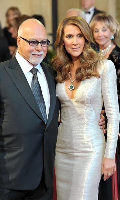 "Celine and René were pictured at the Oscars in 2011, where Celine performed ​the Charlie Chaplin song ""Smile"" during the 'In Memoriam' tribute. (Photo © Getty Images)"