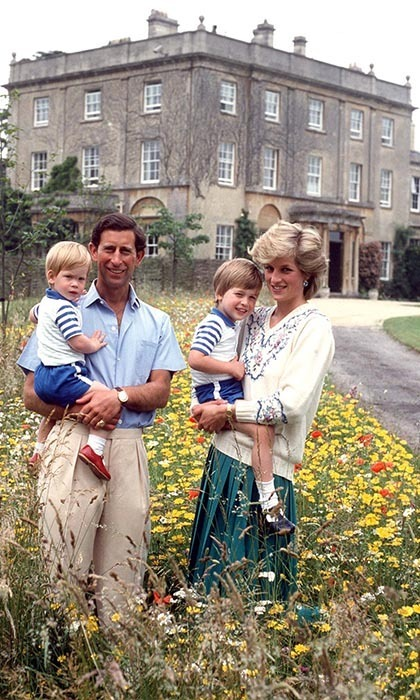 <p>The Prince and Princess of Wales posed with their sons in a meadow at Highgrove.</p>