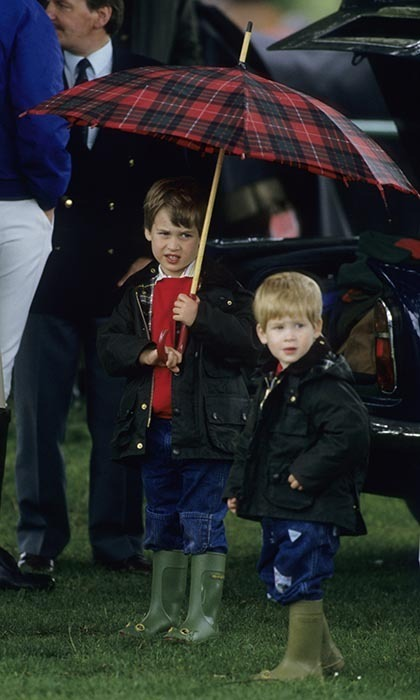 <p>How cute were Prince William and Prince Harry in their matching Wellington boots?</p>