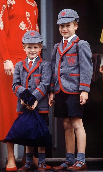 <p>Prince Harry attended his first day at Wetherby school with his big brother by his side.</p>