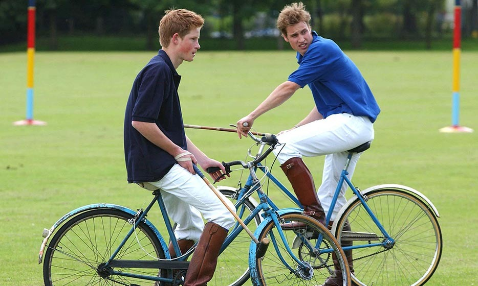 <p>The brothers participated in the bicycle portion of the Jockeys vs. Eventers charity polo match in 2002.</p>