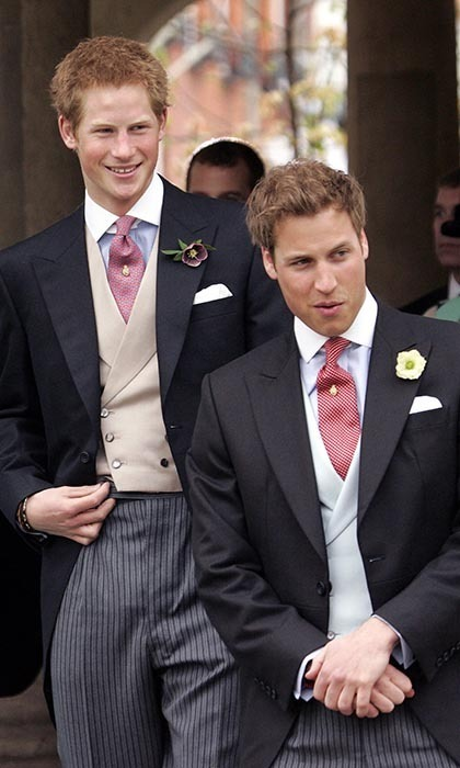 <p>William and Harry were dapper at their dad's wedding to Camilla, Duchess of Cornwall, in 2005.</p>