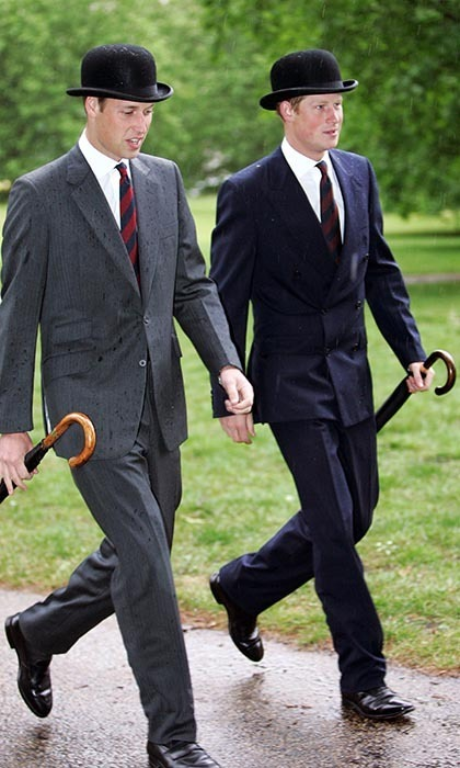 <p>Harry and William donned bowler hats to attend a parade together in Hyde park.</p>
