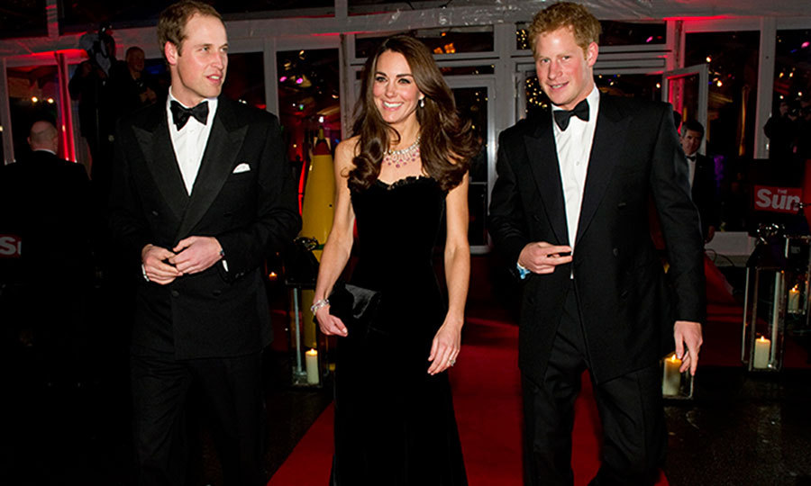 <p>Accompanied by the two most important people in his life – his wife, Kate Middleton, and his brother, Harry – William attended the Sun Military Awards in London.</p>