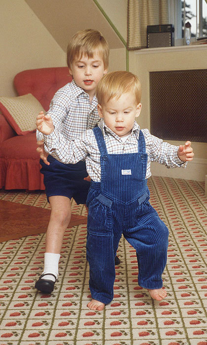 <p>In the playroom at his home in Kensington Palace, little Harry found a guide in his brother as he took his first steps.</p>