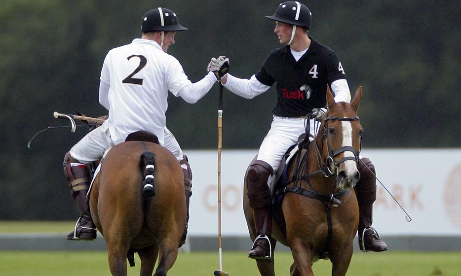 <p>They ended their friendly competition in a 2011 polo match with a jovial handshake.</p>