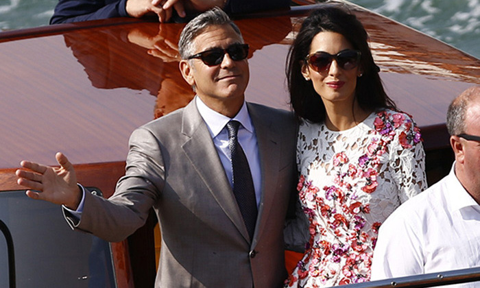 George Clooney seems thrilled with life as a married man too.