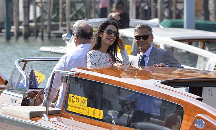Amal hasn't stopped beaming since becoming Mrs George Clooney.