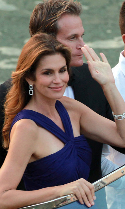 Cindy Crawford brings some supermodel allure to the nuptials. Photo: © Rex