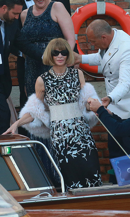 The presence of US Vogue editor Anna Wintour confirmed that it was the most fashionable event of the year. Photo: © Getty Images
